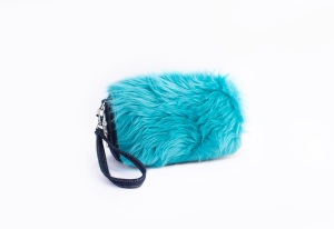Birdie Bag with turquoise Harriette - Fur trends in Children's Fall 2013