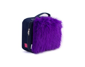 Yummie Lunch Bag with Purple Harriette - Shaggy Faux Fur trend in Children's Fall 2013 Trends
